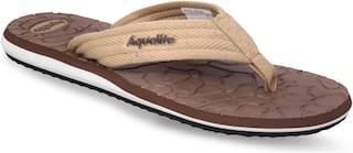 Aqualite Men Beige Casual Slippers & Flip-Flops (GV-155N)