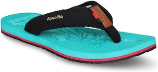 Aqualite Men's Black Slippers & Flip-Flops (GV-167)