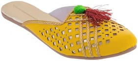 AR Women Yellow Mules
