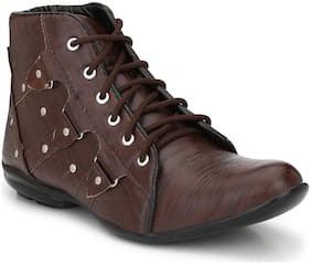 A R GOLD Men's Brown Ankle Boots