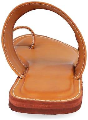 AR Women Tan Slippers
