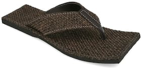AR Men Black Flip-Flops - 1 Pair