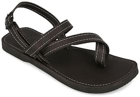 AR Men Black Sandals