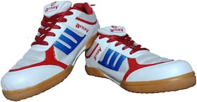 Arnav Badminton Sports Shoes Non-Marking Rubber Cup Sole Shoes