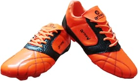Arnav Unisex Football Shoes ( Orange & Black )