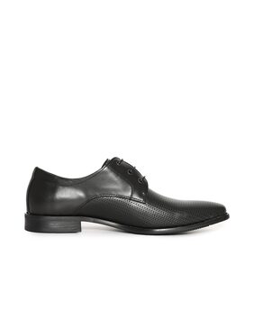 Arrow Pointed Toe Textured Derby Shoes