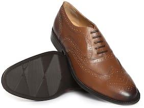 Arrow Wingtip Leather Brogues
