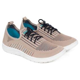 Women Textured Sneakers ( Beige )
