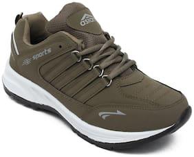 Asian Men Brown Running Shoes