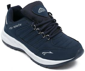 Asian Men Cosco Mouse Running Shoes ( Navy Blue )