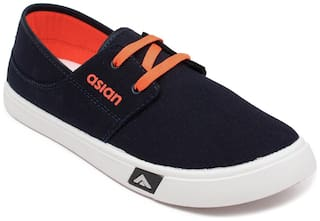 Asian Casual Shoes For Men ( Navy Blue )