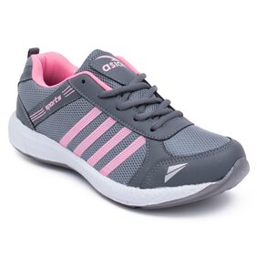 Asian Women Grey Running Shoes
