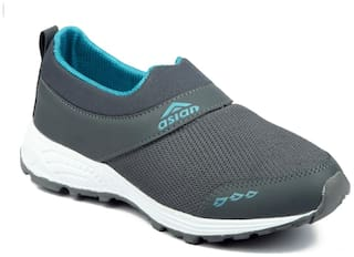 Asian Future-04 Grey Green Running Shoes For Men
