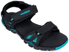 Asian Men Black Sandals & Floaters