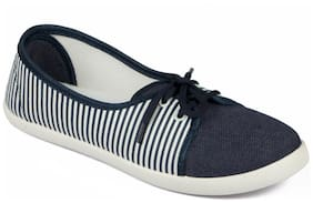 Asian Women Blue Casual Shoes