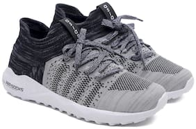 Asian Men AIRSOCKS-12 Running Shoes ( Grey )