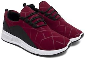 Men Black;Red Slip-On Sneakers