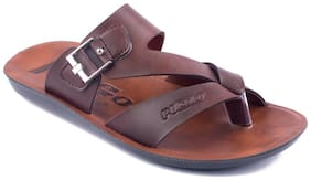 Asian Men Brown Outdoor Slippers
