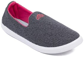 Asian Women Grey Slip-On Shoes