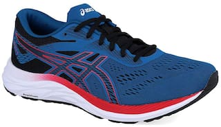 Asics Men GEL-EXCITE 6 - DEEP SAPPHIRE/SPEED RED Running Shoes ( Blue )