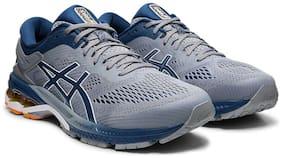 Asics Men GEL-KAYANO 26 - SHEET ROCK/MAKO BLUE Running Shoes ( Grey )