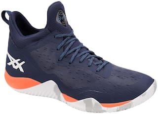 Asics Men Basketball Shoes ( Blue )