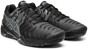 Asics Men's Black Tennis Shoes