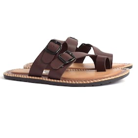 ASTC Men Brown Synthetic Slippers