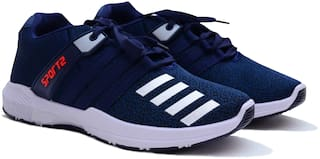 Axynys Casual Blue Pattern Running Sports Shoes for Men