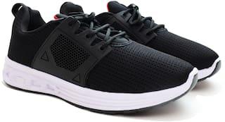 AXYNYS Men Black Walking Shoes & Running Shoes