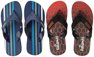 Bahamas Men Multi Flip-Flops - 2 Pair