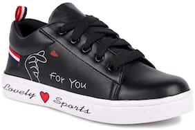 Banjoy SHOES Women Black Sneakers