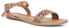 Bata Women Beige Open Toe Flats
