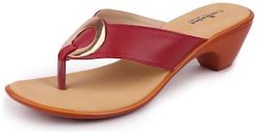 Bata Women Red Sandals