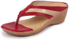 Bata Women Red Wedges