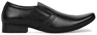 Bata Men Black Slip-On Formal Shoes