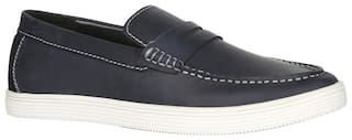 Bata Men Blue Loafers - ELLISON - 8549161