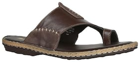 BATA Men's Brown Slippers & Flip-flops-UK 9