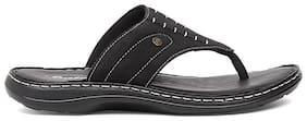 BATA Men's Black Slippers & Flip-flops-UK 9
