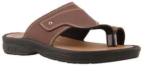 BATA Men's Brown Slippers & Flip-flops-UK 8