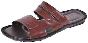 Bata Men`s Brown Slippers and Flip Flops (8714319)