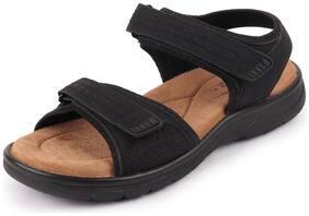 Bata Men's Casual Black Sandals