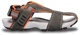 BATA Men's Grey Sandals & Floaters-UK 8