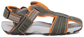 BATA Men's Grey Sandals & Floaters-UK 8