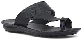 Bata Mens Black Slippers & Flip-Flops
