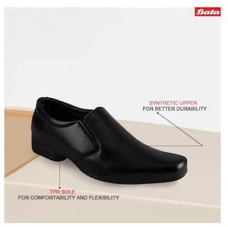 Bata Men Black Slip-On Formal Shoes - 851-6629