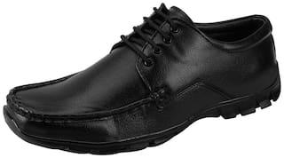 Bata Men Black Derby Formal Shoes - 821-6982