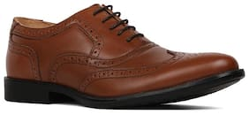 Men Tan Brogues Formal Shoes