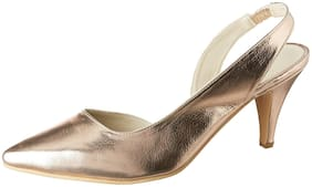 Bata Women Gold Pumps