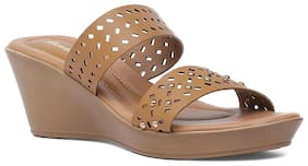 Bata Women Tan Wedges